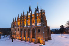 St. Barbara`s Church in Kutna Hora Royalty Free Stock Photography