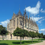 St. Barbara's Church in Kutna Hora, Czech Republic Stock Image