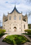 St. Barbara`s Church in the town Kutna Hora, Czech republic. Gotic St. Barbara`s Church in the historic town Kutna Hora, Central Bohemia, Czech republic Stock Photos