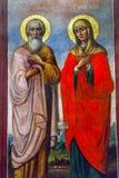 St Barbara St Andrew Painting Mikhaylovsky Kerk Kiev de Oekraïne royalty-vrije stock foto