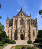 St. Barbora cathedral. St. Barbora - gothic cathedral in Kutna Hora, Czech Republic royalty free stock photos