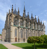 St. Barbora cathedral in Kutna Hora, Czech republic Stock Images