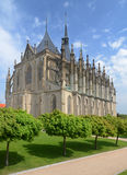 St. Barbora cathedral in Kutna Hora, Czech republic Stock Image