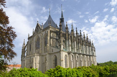 St. Barbora cathedral in Kutna Hora, Czech republic Stock Photos