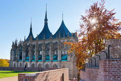 St. Barbora cathedral from 1388, national cultural landmark in Kutna Hora, Czech republic Stock Photography