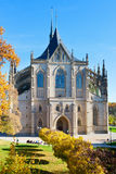 St. Barbora cathedral from 1388, national cultural landmark in Kutna Hora, Czech republic Royalty Free Stock Photography