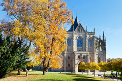 St. Barbora cathedral from 1388, national cultural landmark in Kutna Hora, Czech republic Stock Photos