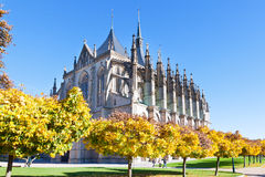 St. Barbora cathedral (1388, P. Parler), national cultural landmark, Kutna Hora, Czech republic, Europe Stock Photo