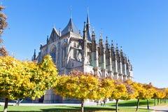 St Barbora katedra (1388, P Parler), krajowy kulturalny punkt zwrotny, Kutna Hora, republika czech, Europa Zdjęcie Stock