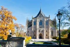 St Barbora kathedraal van 1388, nationaal cultureel oriëntatiepunt in Kutna Hora, Tsjechische republiek, royalty-vrije stock afbeelding