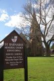 St Barnabas Memorial Church, Falmouth, Massachusetts, Stati Uniti fotografia stock libera da diritti