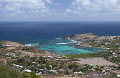 St. Barth beach. St. Barth Island, Caribbean sea royalty free stock images