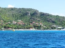 St. Barth. Coming into St. Barth with an excursion stock photos