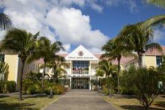 Hotel DE La Collective, vroeger Stadhuis bij St Barth, de Franse Antillen. royalty-vrije stock afbeelding