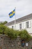 Szwedzki konsulat w Gustavia, St Barths Zdjęcie Royalty Free
