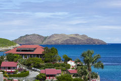Den härliga Edenen vaggar hotellet på St Barth, franska västra Indies Royaltyfri Fotografi