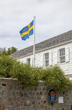 Swedish consulate in Gustavia, St Barths Royalty Free Stock Photo
