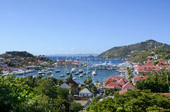 St Barth island. Beautiful luxury view of St barth island royalty free stock photos