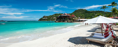 St Barth Island, mer des Caraïbes Image stock