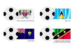 St Barthelemy, St Lucia, St Helena e Sa Imagens de Stock Royalty Free