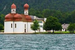 St. Bartholomae. Church by Koenigsee lake in Austria Royalty Free Stock Photography