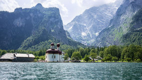 Koenigssee - St. Bartholomew Royalty Free Stock Photo