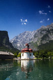 St. Bartholomae at the Koenigssee Royalty Free Stock Images