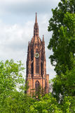 St Bartholomaus Frankfurter Dom Cathedral in Roemerberg Frankfur Royalty Free Stock Image