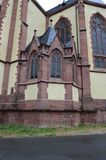 St Bartholomaus Frankfurterworst Dom Cathedral in Frankfurt-am-Main, Duitsland stock foto's