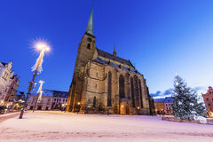 St. Bartholomew Cathedral in Pilsen Stock Photography