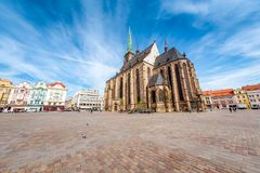 St. Bartholomew Cathedral in Pilsen. Czech Republic Royalty Free Stock Photography