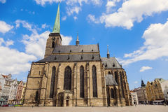 St. Bartholomew Cathedral in Pilsen Royalty Free Stock Photography