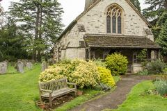 St Bartholomew Church in Leigh Surrey Stock Foto's