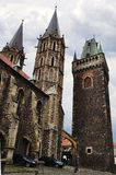 St. Bartholomew Gothic Cathedral, Kolin Stock Photo