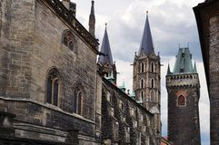St. Bartholomew Gothic Cathedral, Kolin Stock Photos
