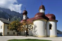 St. Bartholomew's Church. The historical building of St. Bartholomew's church in Bavaria – Germany Stock Photography