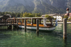St. Bartholomew's church at Koenigssee lake near Berchtesgaden, Stock Images