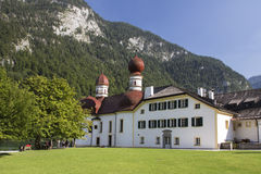 St. Bartholomew's church at Koenigssee lake near Berchtesgaden, Royalty Free Stock Photo