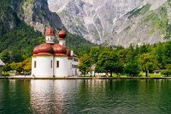 St. Bartholomew's church, Konigssee, Germany Stock Photo