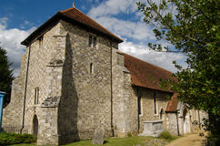 St Bartholomew's Church, Winchester. View of the historic church of Saint Bartholomew in Winchester.  The remains of King Alfred were kept here are are being Royalty Free Stock Image