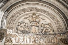 St. Bartholomew's Episcopal church relief in New York Stock Photos