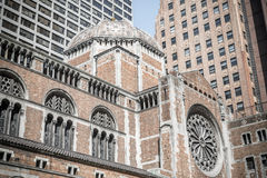 St. Bartholomew's Episcopal church relief in New York Royalty Free Stock Photo