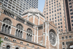 St. Bartholomew's Episcopal church relief in New York Stock Image