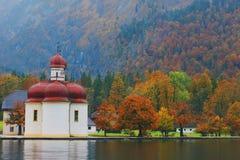 St Bartholomew ` s Kerk, Berchtesgaden Royalty-vrije Stock Foto's