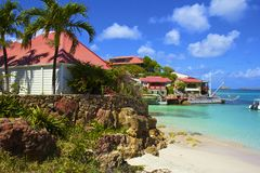 ST Barths, καραϊβικό Στοκ φωτογραφία με δικαίωμα ελεύθερης χρήσης