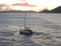 St Barths au coucher du soleil Photo libre de droits