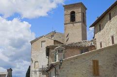 St. Bartolomeo Belltower. Montefalco. Umbria. Stock Photo