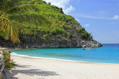 St. Barts Beach. Great vacation time with sunshine and calm waters on St. Barts Beach royalty free stock photography