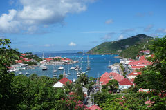 Gustavia schronienie, St. Barths, Francuscy Zachodni indies fotografia stock