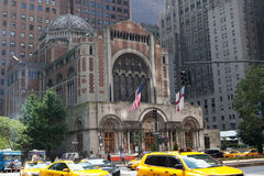 St Barts Church in Manhattan. St Barts Church in New York stock images